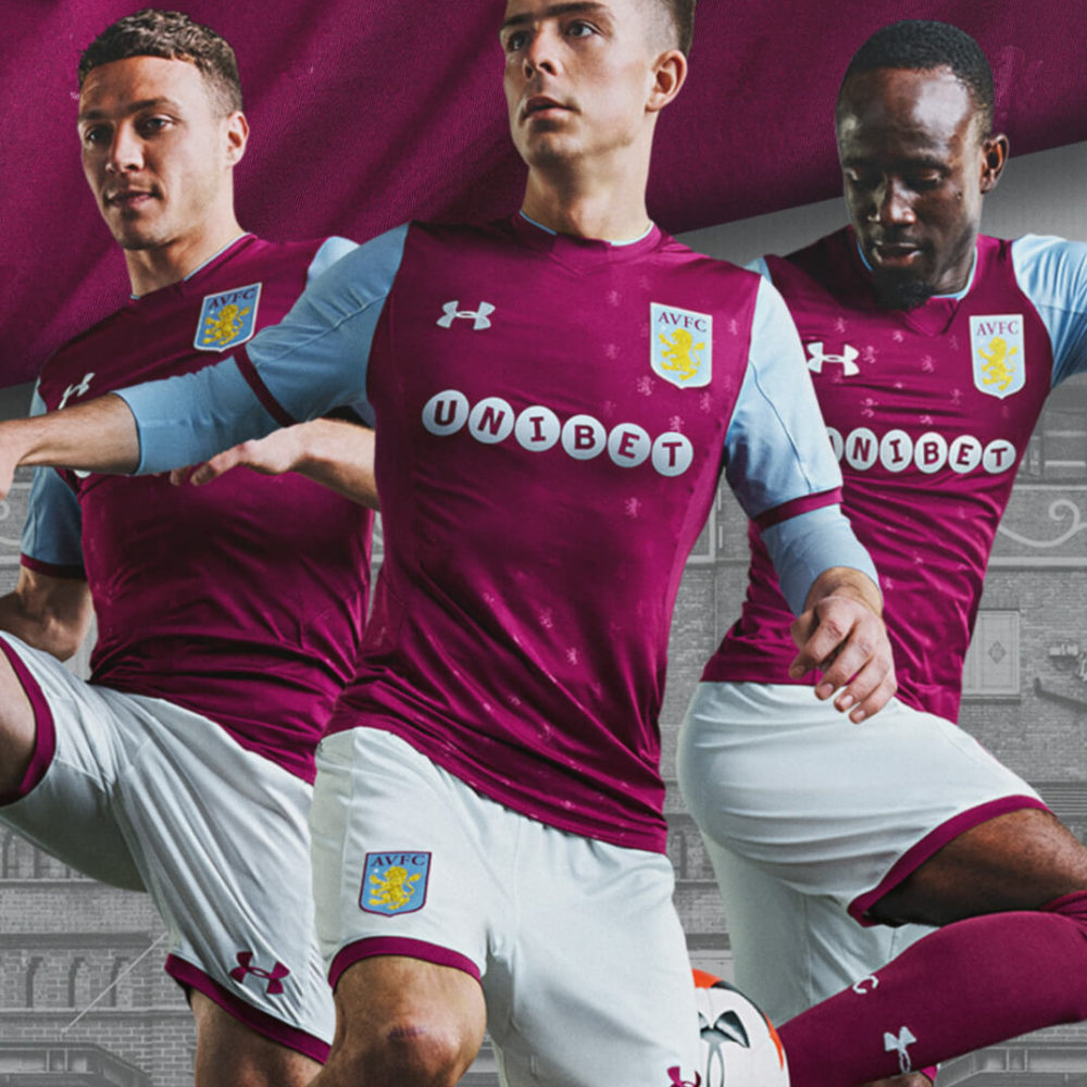 Aston Villa FC 2017/2018 kit launch animation