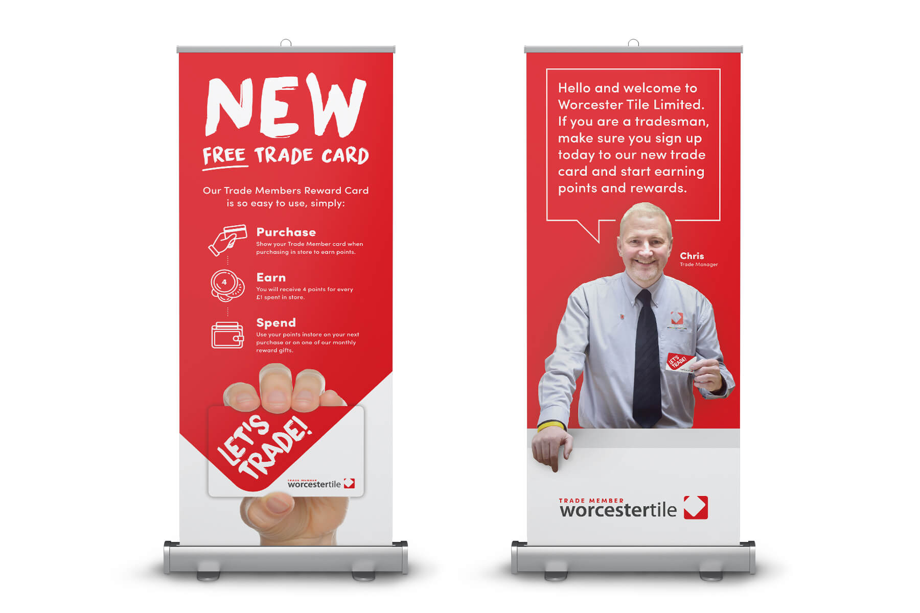 Worcester Tile Pull up banners